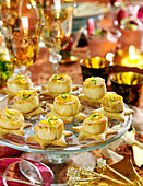 Hazelnut shortbread and roasted scallop appetizers