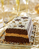 Chocolate and coconut terrine