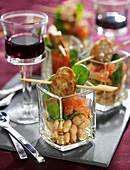 Salade toulousaine en verrine