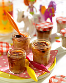 Small apricot jam puddings