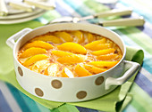 Peaches in syrup Clafoutis