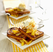 Brioche french toast with pineapple