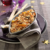 Sweet and salty vegetable crumble