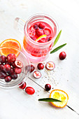Cranberry and blood orange infusion