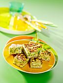 Zucchini-Frittata mit Minze