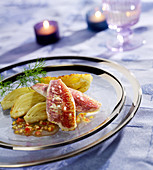 Red mullet fillets with roasted fennel