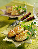 Potatoes grilled with Cantal