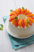 Citrus fruit Angel cake