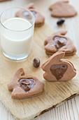 Chocolate rabbit biscuits