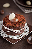 All chocolate small Easter cake