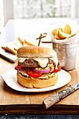 Raclette de Savoie cheese hamburger