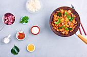 Panang beef curry wok