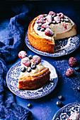Italian cheesecake with berries and mascarpone
