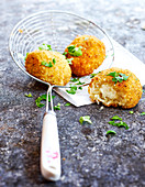 Arancini with coriandre