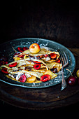 Black Forest-style chocolate and cherry Crêpes
