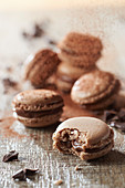 Macaroons with chocolate mousse