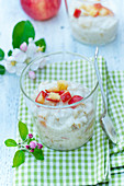 Apple-vanilla rice pudding
