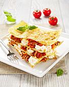 Bolognaise sauce and ricotta lasagnes