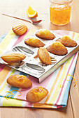 Madeleines with bitter orange marmelade