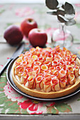 Rose pattern apple tart