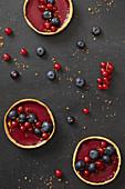 Summer berry shortbread tartlets