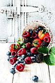 Still life of red fruits