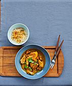 Tajine-style turmeric-flavored veal Filet mignon,semolina
