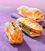 Mini sandwich trio