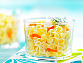 Gansettes pasta with surimi crab meat