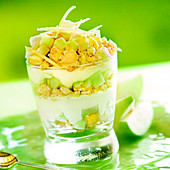 Green apple tiramisu
