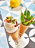 Garnished Cod Fillet Cones