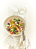 Tomato,Cucumber,Mini Cucumber,Olive,Garlic,Onion,Small Pepper And Chive Salad