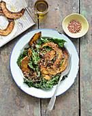 Kürbis-Grünkohl-Salat mit Buchweizen