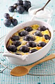 Black grape batter pudding
