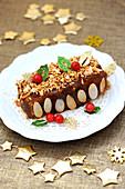 Chestnut And Praline Small Log Cake