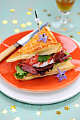 Sea And Land Lobster And Smoked Duck Club Sandwich