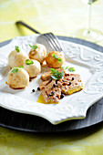 Pan-Fried Foie Gras With Black Pepper And Small Tender Turnips