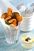 Vegetable Tempuras With Truffle Oil Sauce