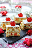 Chibouste Cream And Candied Fruit Flaky Pastry Layer Cake