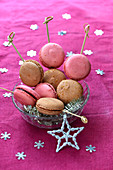 Blackcurrant And Hazelnut Macaron Brochettes