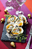 Warm Oysters With Pumpkin And Cream