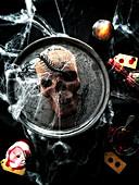 Halloween Chocolate Skull Cake