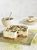 Strawberry,Raspberry And Matcha Green Tea Ice Cream Cheese Cake
