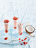 Strawberry-Coconut Mousse