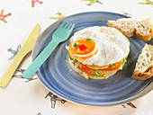Fried Egg,Potato And Pepper Timbale