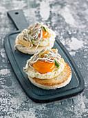 Fried Egg And Garlic Gulas Toasts
