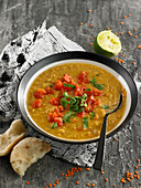 Lentil,Tomato And Parsley Soup