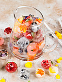 Carafe Of Fruit,Herb And Flower Ice Cubes