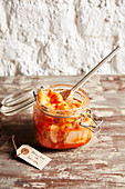 Kimchi (fermentierter Kohl) mit Harissa