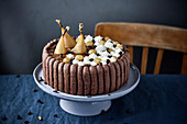 Chocolate And Pear Charlotte